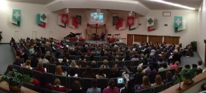 Over 250 women filling the sanctuary!